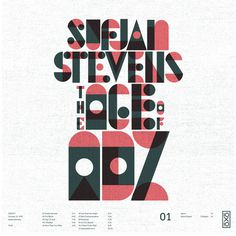 Sufjan Stevens The Age Of Adz #skill #design #craftsmanship #quality #type #typography