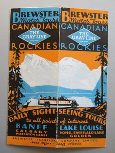 1920s Canadian Advertising Brochure Tours of the Rocky Mountains Art Deco #vintage #brochure