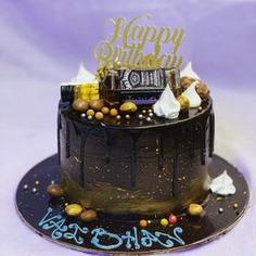 Chocolate Drip Cake for a Birthday Boy!,null