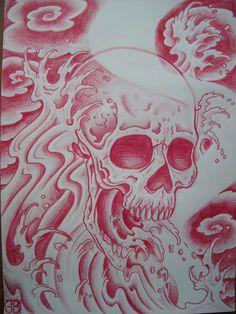 wave_skull_by_AsatorArise.jpg (900×1200)