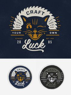 Craft_detail #luck #branding #cat #craft #vintage #logo