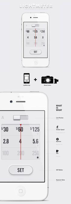 Lightmeter App Anton Repponen #design #app #interactive