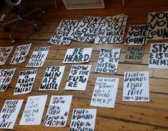 hand made type