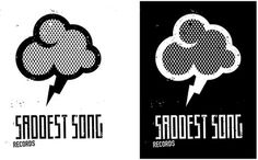 Saddestsong records - MADGAS | Art director & graphic designer #logo #cloud