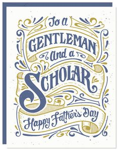 Gentleman #design #55his #greetingcard #vintage #type