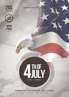 4th of July USA Flyer Template