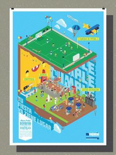 omaigod #isometric #argentina #graphic #geometric #illustration #colors #poster #omaigod #party