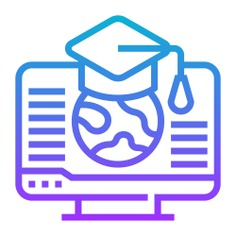 See more icon inspiration related to school, elearning, training, learning, knowledge, mortarboard, graduate, presentation, education, analysis, online, world, earth, globe and computer on Flaticon.