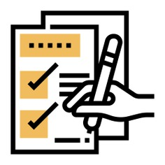 See more icon inspiration related to checklist, test, exam, list, document, file, pencil, files and folders, hands and gestures, check mark, archive, education, form, files and hand on Flaticon.