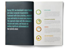 Merck 2010 Corporate Responsibility Overview #layout #publication #editorial