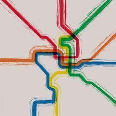 map subway tube painting