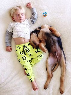 A Naptime Story with Dog and Baby 10 #photography #baby #dog