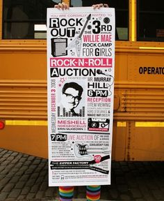 Willie Mae Rock Camp for Girls | WORKSHOP #graphic design #illustration #poster #event