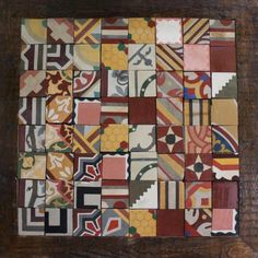 Mosaic od assorted reclaimed tiles