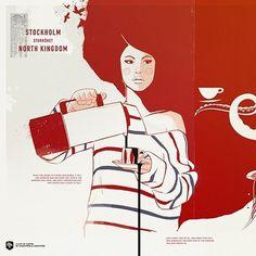 Work in progress II — Wallpaper for the NK kitchen | Designchapel™ #illustration