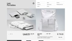 Unit Portables - Web design inspiration from siteInspire #layout #web design #interface