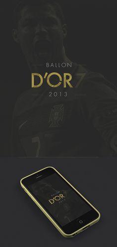 Ballon D'Or CR7 #cr7 #niiiws #soccer #cover #ui #nike #app #mobile #fifa #ronaldo #dor #football #cristiano #ballon