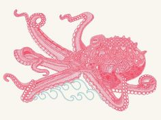 octopus10x8.jpg (JPEG Image, 600x449 pixels) #illustration