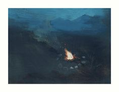Around the Fire limited edition art print from original painting #arte