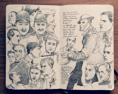 1.2 Sketchbook 2014 on Behance https://www.behance.net/gallery/17230953/12-Sketchbook-2014 #sketchbook #portrait #character