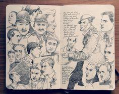 1.2 Sketchbook 2014 on Behance https://www.behance.net/gallery/17230953/12-Sketchbook-2014 #portrait #character #sketchbook