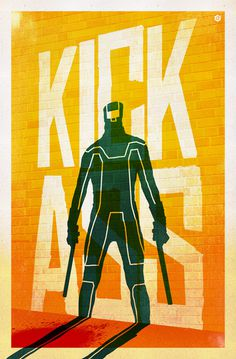 Alternative Movie Posters by Doaly | Kick ass #ass #kick #illustration #doaly #poster #film