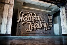 Typeverything.com Northern Territory by No Entry Design. #northern #script #mural #territory