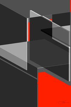 Cubicle #design #geometric #illustration #architecture #art