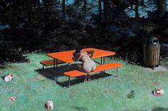 POUR 15 MINUTES D'AMOUR: Ceux qu'on écoute #girl #nude #pop #thor #bench #park #culture #illustration #kfc #erik #sandberg