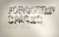 Forgotten spaces #design #graphic #typography