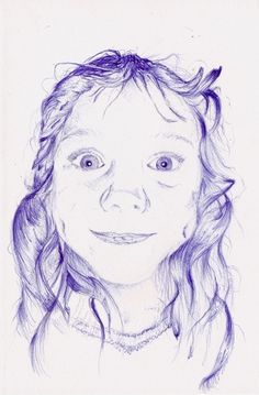 Biro Portraits on the Behance Network #jake #biro #ellie #falmouth #illustration #cragg #hinds #blue #portraits #drawing