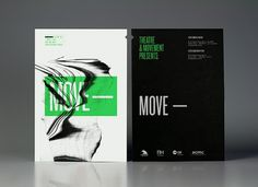 Theatre Movement— Theatre Producers | Calendar — Branding & Graphic Design Bureau #move #black #green