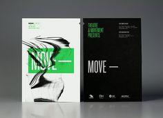 Theatre Movement— Theatre Producers | Calendar — Branding & Graphic Design Bureau #green #black #move