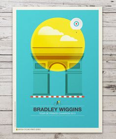 British Cycling Print Series #cycling #colorful #minimal