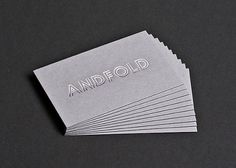 Andfold Studio : Graphic Design Leicester : Andfold Identity #business #smith #gf #card #foiled #andfold #duplex
