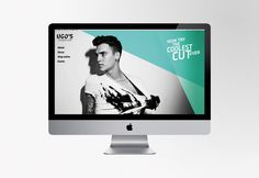 UGO's Barber Shop / identity #cut #models #barber #shop #male #identity #logo #web