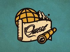 Quest_logo_concept_2_color_alt_01 #vector #globe #telescope #branding #logo #quest