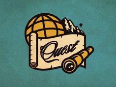 Quest_logo_concept_2_color_alt_01 #vector #globe #telescope #branding #logo #quest