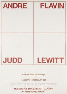 Modern Art Oxford 50:50 | 15. Andre, Flavin, Judd, Lewitt #minimalists #poster