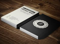 Creative Retro Business Card #creative #badge #business #card #retro #vintage