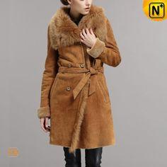 Women's Merino Shearling Coat CW640235 #merino #shearling #coat