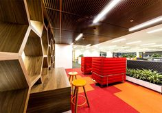 City West Water Head Office cheerful working space #office #office design #office space #working space