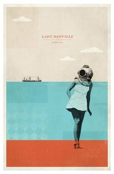Concepción Studios - Wall to Watch #ocean #woman #print #design #graphic #poster #music #nautical #typography