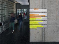 büro uebele // institute of electrical engineering, building 2, stuttgart university signage system, redesign stuttgart vaihingen, 2012 #wa