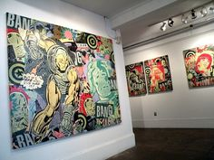 The mixed media art of Greg Gossel | Jared Erickson #canvas #gallery #iron #comic #art #marvel #mixed #man #media