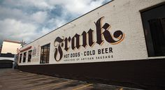 Frank mural #mural #hotdogs #frank #signage #typography