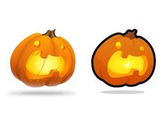 A Tale of Two Pumpkins #illustration #pumpkin