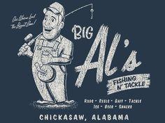 Dribbble - Big Al's by Alex Rinker #illustration #tshirt #typography