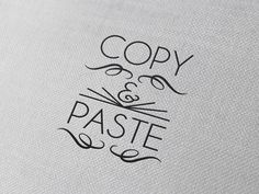 Typography(Copy and Paste, via betype) #typography