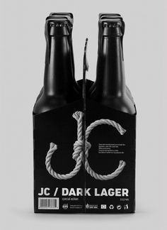 TomatDesign / JC dark lager #beer #bottle #packaging #drink #black #label #stout